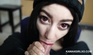 Sexe anal en levrette jeune amatrice kawaii de 18 ans